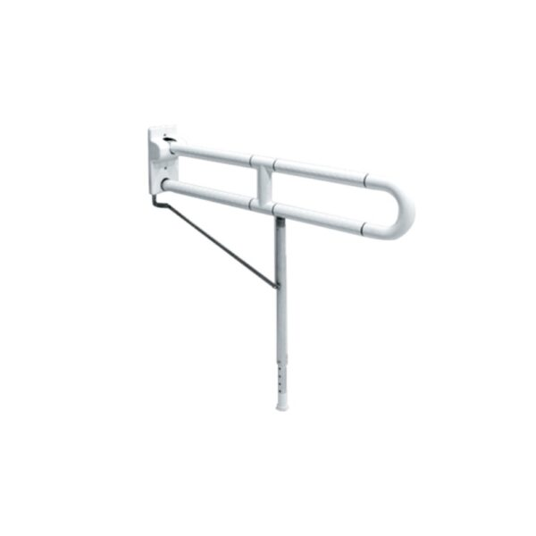 SB100-70L AW Flip up type anti-bacterial ABS grab bar with leg