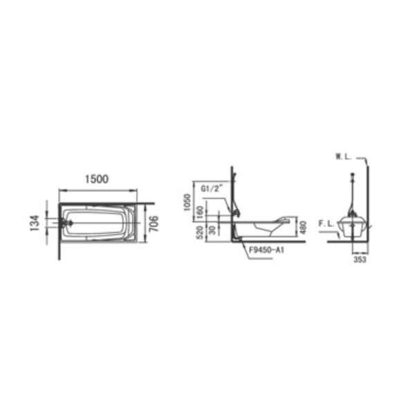 Jupiter F150 AW Technical Drawing
