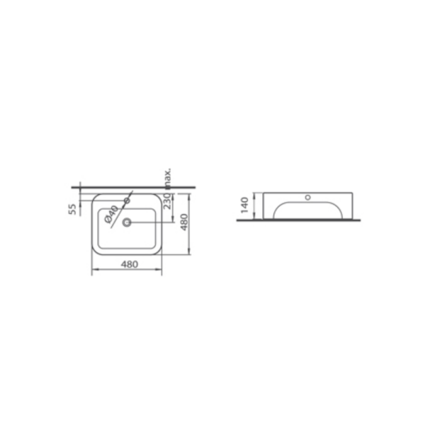 Phoebe L4620NS(35mm) AW TECHNICAL DRAWING
