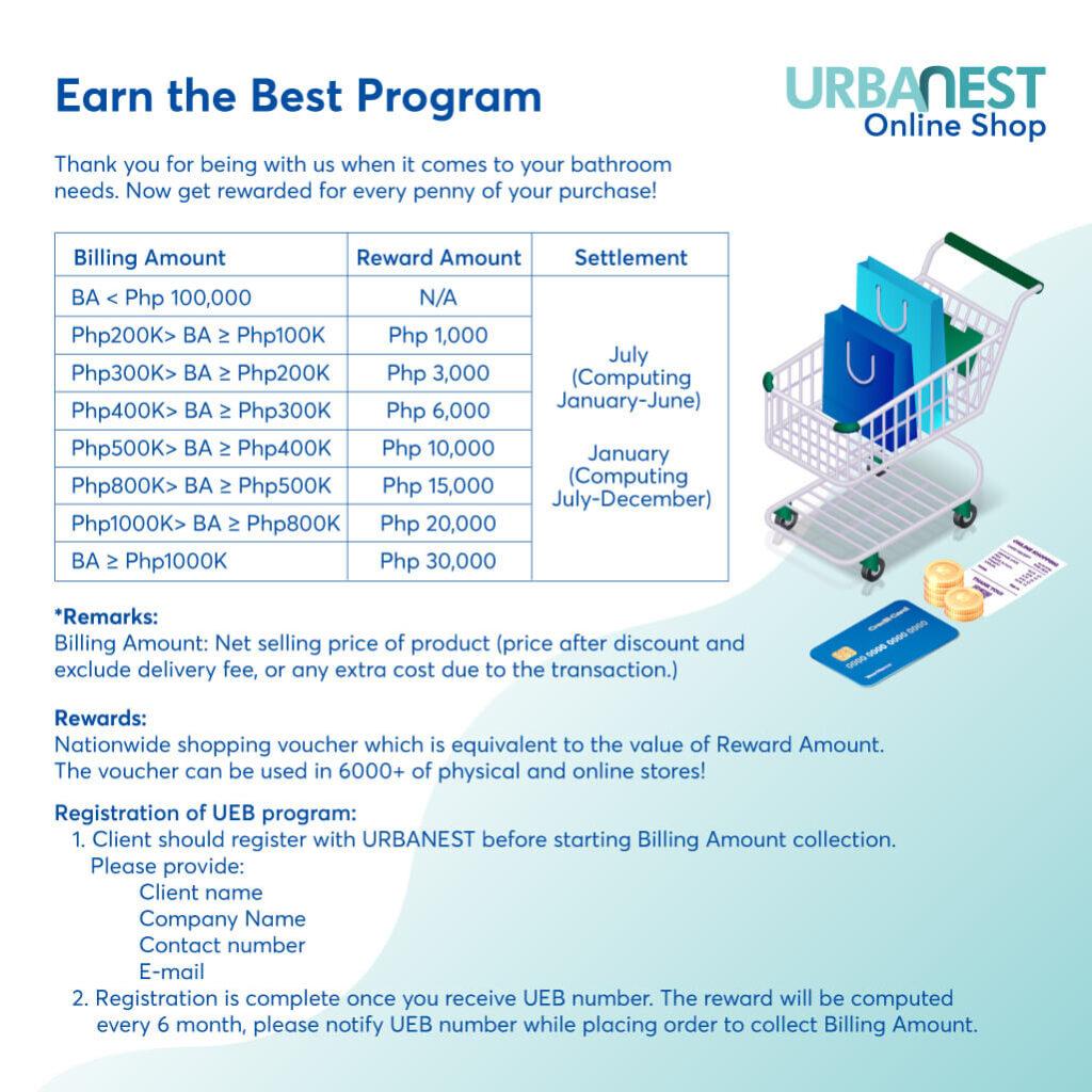 URBANEST-Earn The Best Reward Program