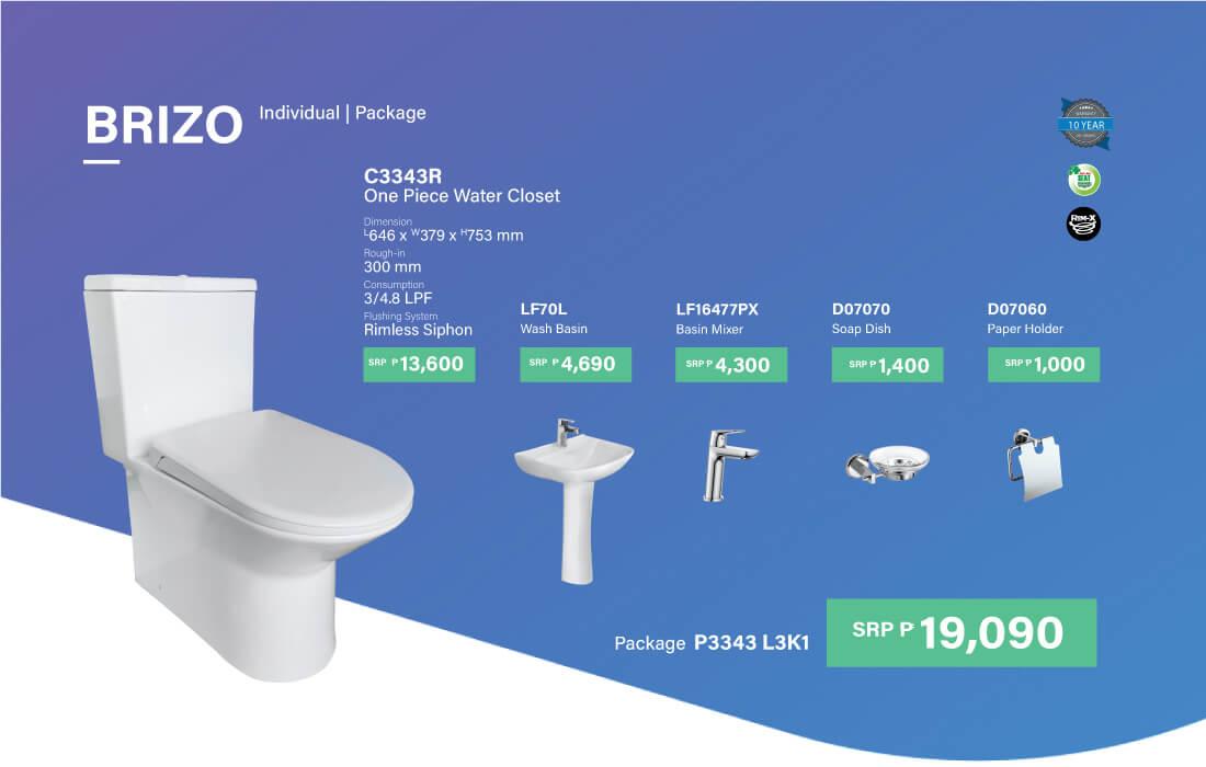 HCG bathroom set all in 1 - P3343 L3K1