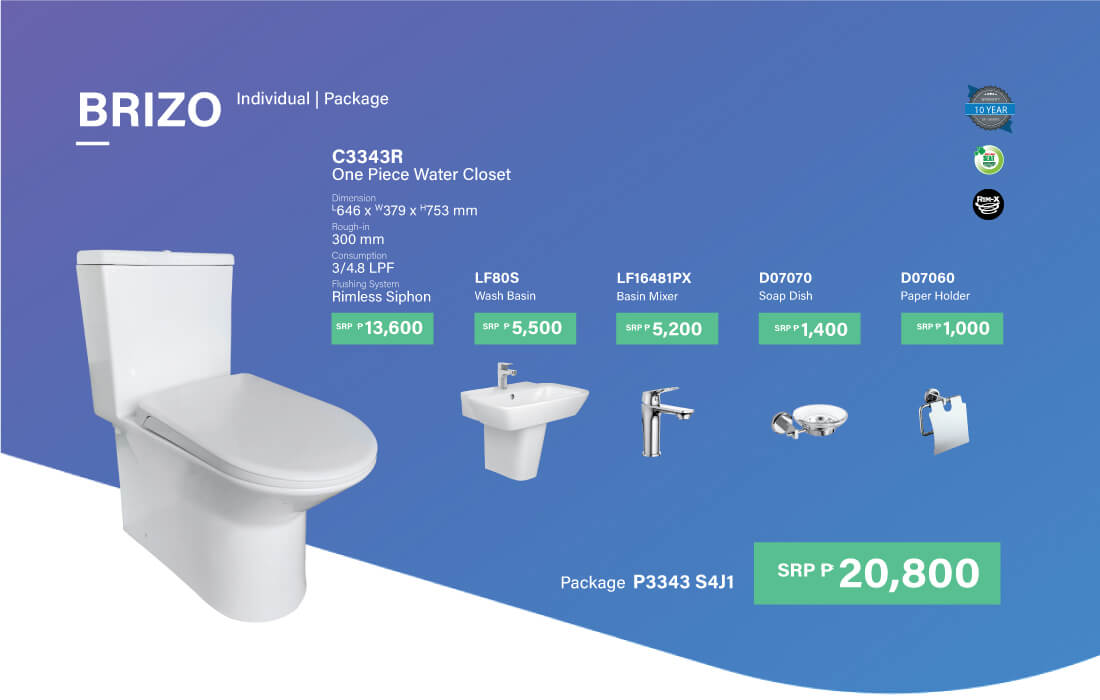 HCG P3343 S4J1 toilet package