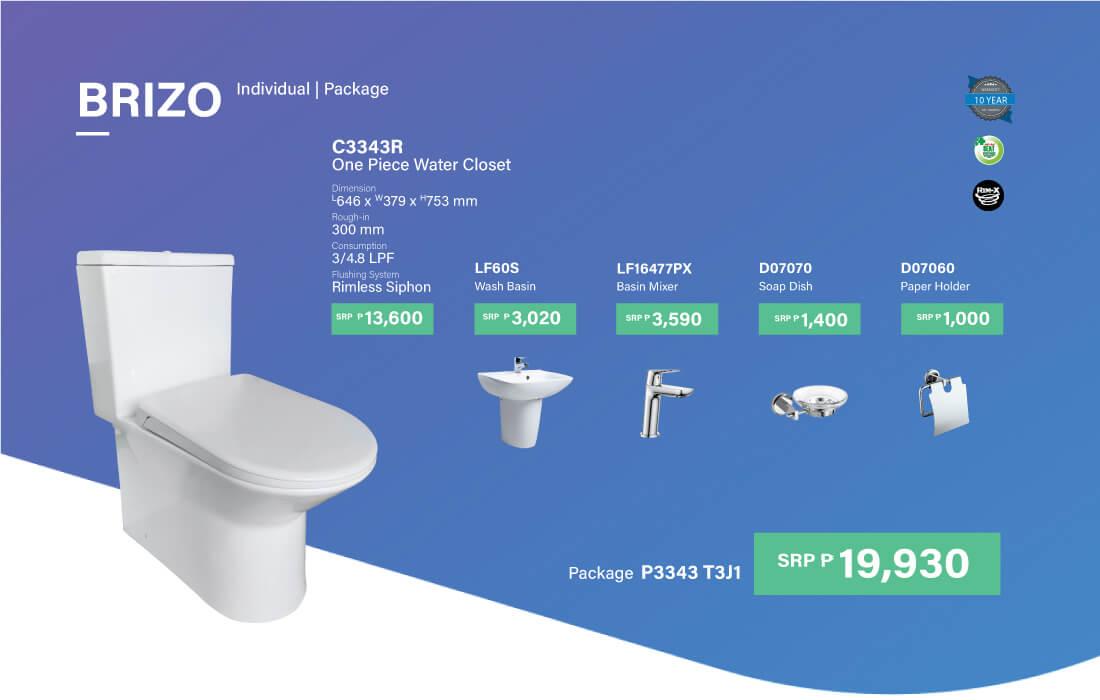 HCG P3343 T3J1 restroom package