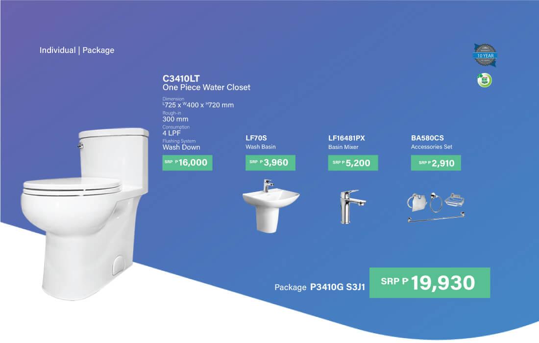 HCG bathroom package P3410G S3J1
