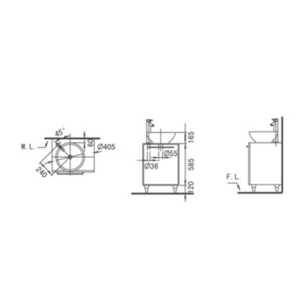 Legend L4001 AW Technical Drawing