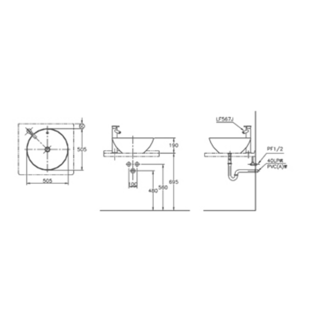 Vienne L4006 AW Technical Drawing