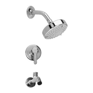 """Everglades Everglades concealed bath faucet with 4"""" sunflower shower headplate"""