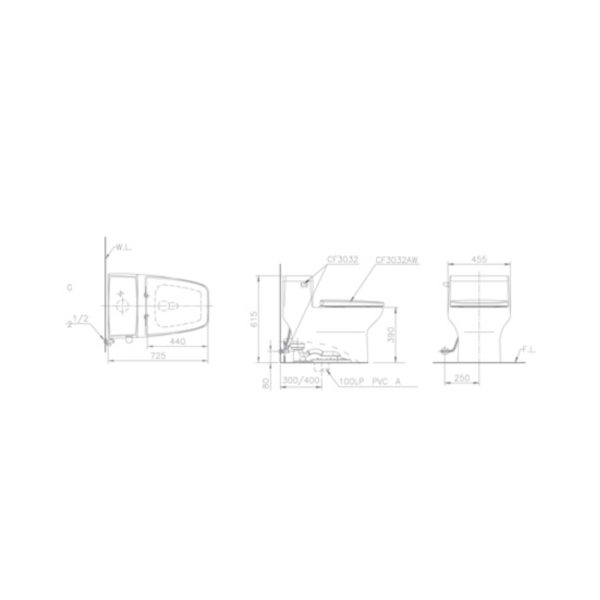 C3032T-Technical Drawing